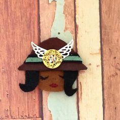 one of my Steampunk ladies (pins/brooch)
