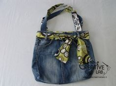 tutorial fare borsa riciclare vecchi jeans Diy Jeans, Love Jeans, Recycle Jeans, Diy Bags Tutorial, Embroidery Flowers Pattern, Denim Bag, Kids Bags, New Bag, Leather Fabric