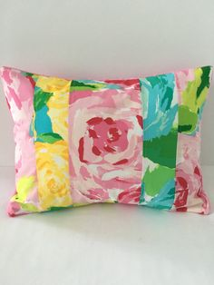 Lilly Pulitzer Pillow  Lilly Pulitzer by SweetBabyBurpies on Etsy