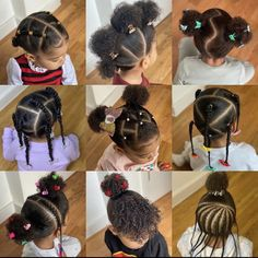 Lil Girl Hairstyles Braids, Little Girls Natural Hairstyles, Toddler Braided Hairstyles, Kids Hairstyle, Baby Hair Growth, Cabello Afro Natural, Pelo Afro, Ponytail Styles, Natural Hair Styles