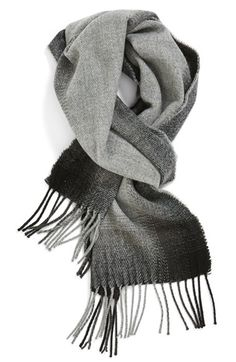 Free shipping and returns on The Rail Gradient Knit Scarf at Nordstrom.com. A handsome gradient plaid morphs from black to grey over a soft knit scarf finished with fringed ends.