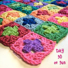 ...welcome to my 2015 Just Little Things Blanket! This year I am crocheting a 2 round granny square every day using 2 colours which represent something little I want to remember, celebrate or be...
