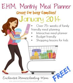 Download a free Monthly Meal Planner for the month of January.