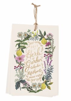 2017 Rifle Paper Co. Herb Garden Calendars, designed by Anna Bond.  Available at Northlight soon.
