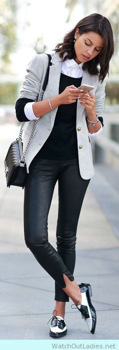 How to style for work with loafers and blazers. Masculine chic