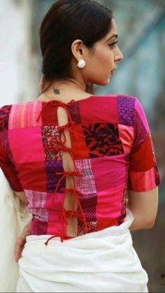 Blouse Back Neck Designs, Sari Blouse Designs, Choli Designs, Designer Blouse Patterns, Blouse Styles, Dress Patterns, Sari Design, Design Design, Design Ideas
