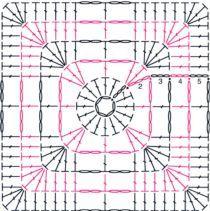 Gráficos de crochê para fazer quadrados                                                                                                                                                      Mais