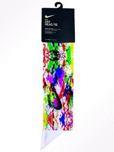 Nike Tie Headbands, Sports Headbands, Nike Swoosh Logo, Nike Logo, Paint Splatter, Summer Colors, White Nikes, Nike Dri Fit, Purple