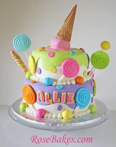 cakes that look like ice cream | Lollipops & Ice Cream Candyland Cake