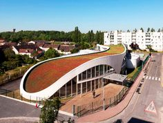 Curvaceous Green Roofed Jean-Moulin School Completed in Montargis, France | Inhabitat - Sustainable Design Innovation, Eco Architecture, Green Building