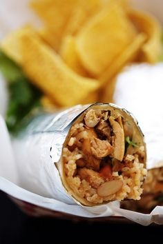 Chicken Burrito - quick and healthy meal on the go!