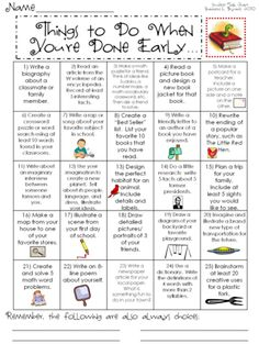 Things to Do When You Are Done (Volume 1) from Bryants Brain Train on TeachersNotebook.com (4 pages)