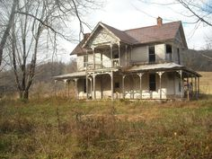 """Abandoned Homestead"" -- [Jonesville, Lee County, Virginia]~[Photograph by Monkey Muck - November 24 2010]'h4d-250.2013'"