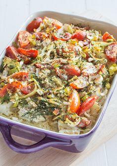 Ugnsbakad torsk med ris kanske inte låter så himla festligt, ja det kan ni ha rätt i. Men den är snabb att laga och smakar väldigt gott.