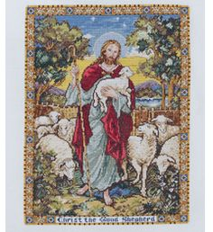 "Bucilla ® Counted Cross Stitch - Picture Kits - The Good Shepherd, Size: 12"" x 16"""
