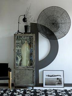 Stiliste Marianne Luning / VT Wonen Photos : Tjitske van L Industrial Interiors, Vintage Industrial, Industrial Design, Decorating Your Home, Interior Decorating, Interior Ideas, Interior Design, West Home, Gravity Home