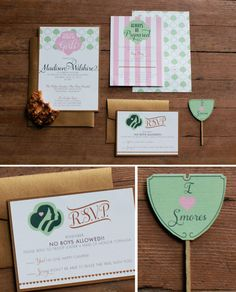 A Girl Scout Inspired Bridal Shower paper suite from @Posh Paperie and @Beau & Arrow Events