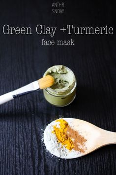 french clay is known for removing impurities, tightening pores, toning skin + reducing inflammation from acne. cinnamon is awesome for reducing acne, blemishes and cystic pimples on the face + body. if you have dry skin, this spice can also aid in helping to smooth it + restore your natural shine sans oiliness. turmeric is a magic spice! it does SO MUCH for the skin and hair. personally, i love this golden hued goodness because it helps remove dead skin cells + has natural antiseptic/...