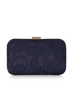 44a63c790cab Lace Overlay Hardcase Clutch Bag