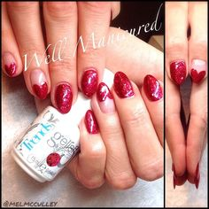 Va-Va-Vavoom!! The new @gelish_official #Trends are UH-mazing! This gorgeous red sparkle is called #LifeoftheParty. #wellmanicured #nails #nailart #gel #gelish #gelishtrends #rednails #redglitter #manhattanbeach #hermosabeach #intheheartofthesouthbay #la #southbay #nailsalon #nailstylist #sweetheartfrench #frenchmanicure #manicure #freehand #artist #nailartist #Padgram