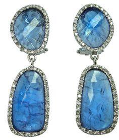 Alexander Laut Fancy-Cut Aquamarine & Diamond Cuff Bracelet kUXLsC