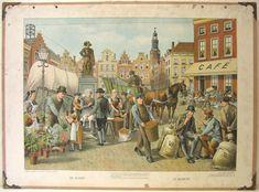 Schoolplaten Ambachten & Beroepen - De Markt
