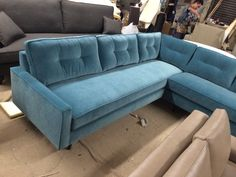 """""""Hana"""" Sectional - Every style can be customized in virtually any way possible!  www.MonarchSofas.com More custom pieces on our Houzz profile! http://www.houzz.com/pro/thesofaworks/monarch-sofas"""