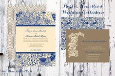 Wedding Invitations - Rustic Homestead Collection. $100.00, via Etsy. @Lindsey Adams