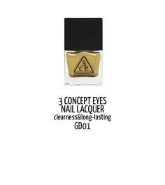 Elegant. Would look great with a little black dress and gold bling. US$4.1 at BonjourHK.com #BonjourHK #BJHK #cosmetic #polish #nail #review #blogger #beauty #makeup #3CE