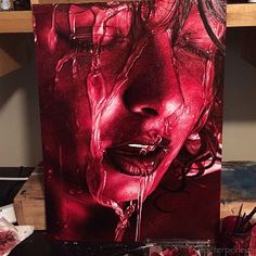 """Completed """"Crimson Storm"""" 18""""x24"""" oil painting on canvas. I'll be taking better pics once it dries and releasing prints on my site next week. ________________________________________Send all inquiries about this piece to pperlega@gmail.com thanks and have a great weekend."""