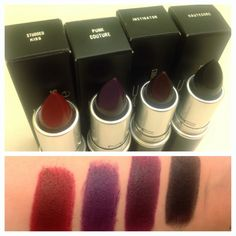 I really want to try a super dark lip! But the two on the left are probably as dark as I can go.