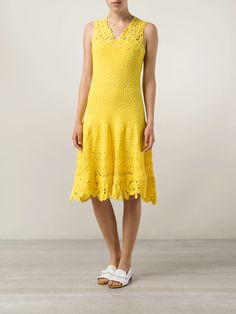 Ivelise Feito à Mão: Oscar De La Renta Vestido Amarelo!