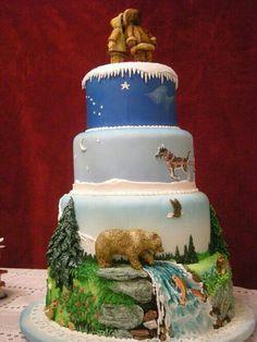 My future Alaskan wedding cake! Pretty Cakes, Beautiful Cakes, Amazing Cakes, Simply Beautiful, Take The Cake, Love Cake, Cupcakes, Cupcake Cookies, Unique Cakes
