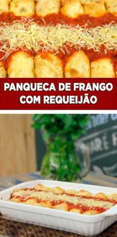 Uma deliciosa #panqueca de frango com requeijão