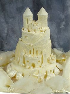 Sandcastle Wedding Cake :: Yes, this is a cake!