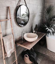gorgeous 36 Fabulous Natural Bathroom Design Ideas That You Need To Try Best Bathroom Designs, Bathroom Interior Design, Interior Design Living Room, Bathroom Ideas, Bathroom Organization, Bathroom Colors, Bathroom Shelves, Bathroom Mirrors, Remodel Bathroom