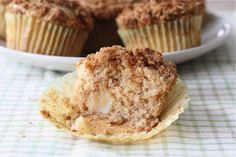 my favorite! PEAR muffins with honey oat topping
