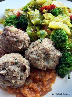 Meatballs and homemade tomato sauce!