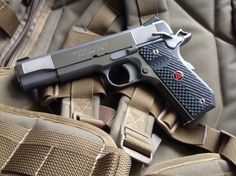 """ Custom Colt Delta Elite A 1911 chambered in This one has had some work done to it; note the front slide serrations and bobbed grip. There is some debate whether early Colt Delta Elites could. Revolver Pistol, 1911 Pistol, Colt 1911, Home Defense, Self Defense, Custom 1911, Custom Guns, Wilson Combat, Tac Gear"