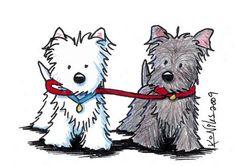 Terrier Walking Buddies - Kim Niles.