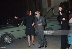 Aristotle Onassis In France In 1974-With Christina, and Jacqueline.