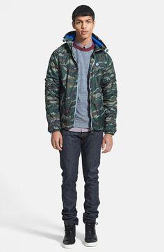 Superdry Windbreaker Jacket, Obey Raglan Sleeve Sweatshirt, Ben Sherman Dot Stripe Woven Shirt & J Brand Skinny Fit Jeans | Nordstrom
