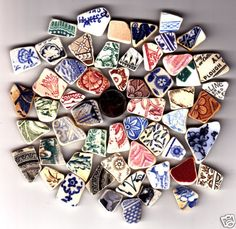 Victorian sea glass pottery from the U.K.... I would love some from there. Beautiful