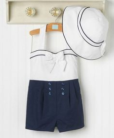 New **Janie and Jack Sail Away  Romper** modern day sailor outfit @Rossa McMahon williams