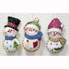 "5"" Stitched Santa Snowman Felt Ornament - Buy Felt Ornament,Snowman…"