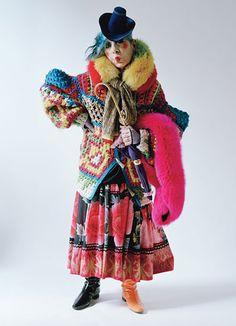 Anna Piaggi Dazzles In Final Photoshoot for W Magazine