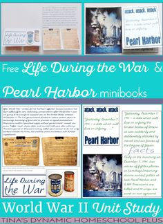 Making ration cakes wasn't the only activity we have done to study about the affects of rationing during our World War II homeschool history unit study. The other thing I did was to use something unique we have in our family to help Tiny understand what his great-grandparents went through during wartime. Grab these free minibooks: Life During the War & Pearl Harbor | Tina's Dynamic Homeschool Plus.