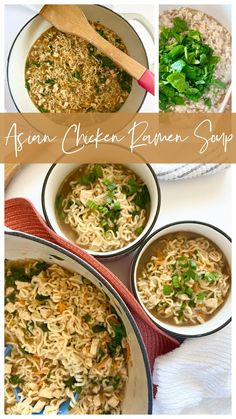 Pasta Recipes, Chicken Recipes, Top Recipes, Skinny Recipes, Ramen Soup, Asian Chicken, Hot Soup, Slow Cooker Recipes, Delicious Dishes