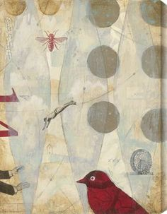 ⌼ Artistic Assemblages ⌼ Mixed Media & Collage Art - IRural Stamp III by Judy Paul