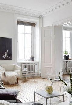 old radiators painted white / sfgirlbybay